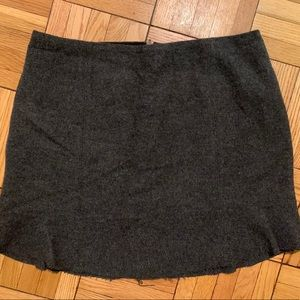 NWT Madewell charcoal gray wool mini skirt